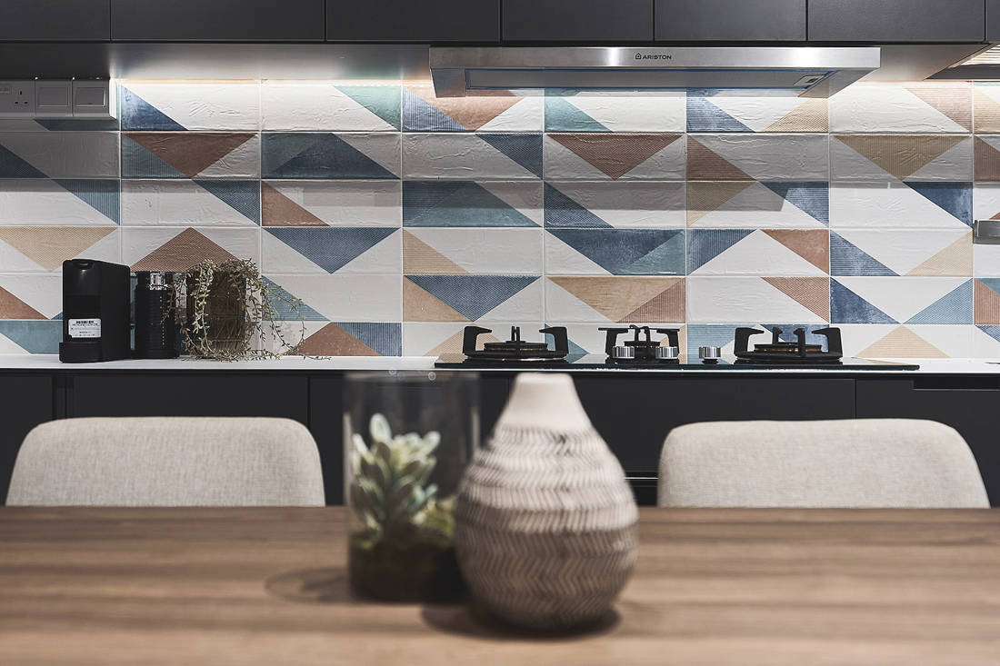 kitchen detail in HDB flat by Happe Design Atelier
