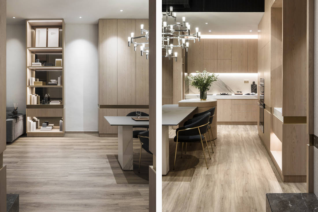 kitchen & dining in cosy weekend home for a family designed by Parenthesis