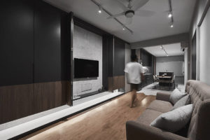 living room in HDB flat by Happe Design Atelier