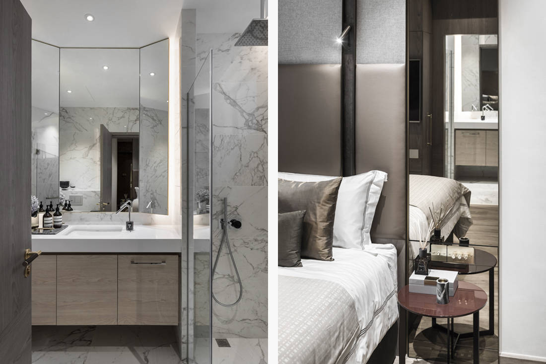 master & en suite in cosy weekend home for a family designed by Parenthesis