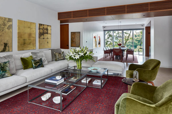 relaxed elegance in living room designed by Perinelli Design