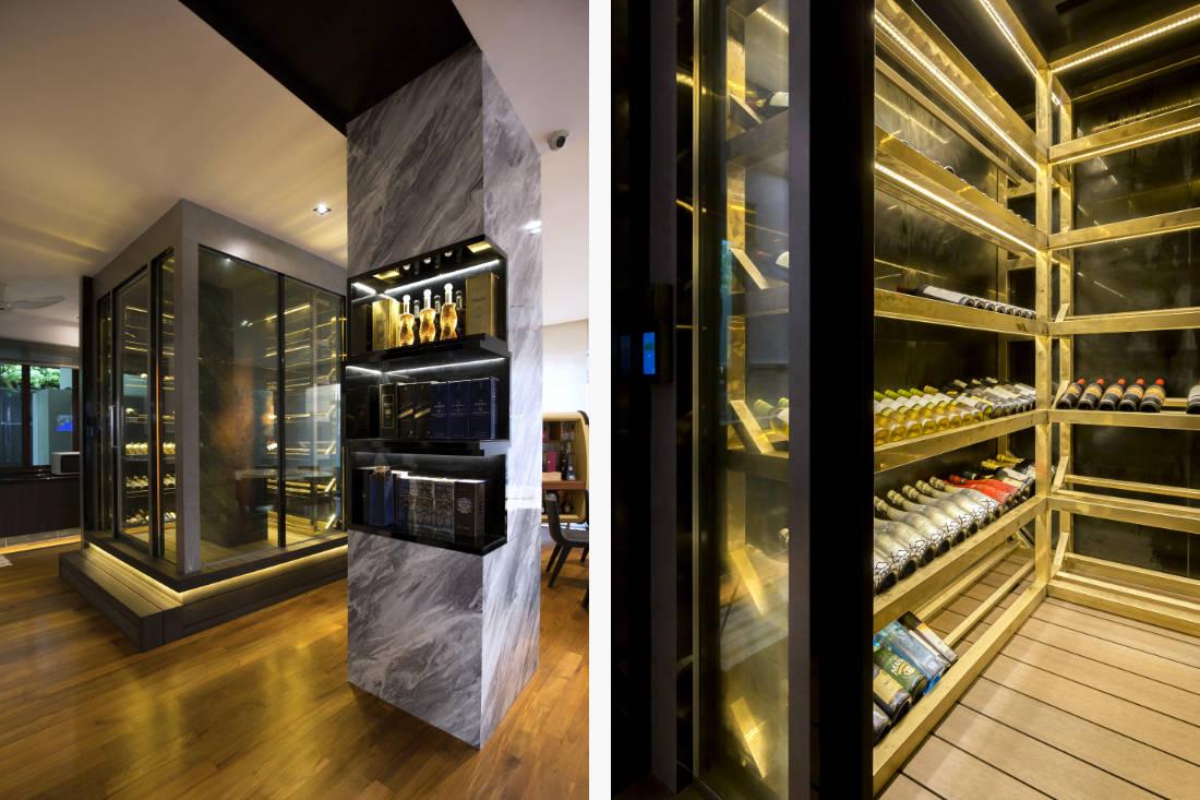 contemporary resale bungalow bar and wine cellar by Vivre Creative Design (2)