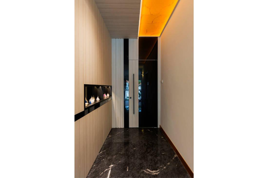 contemporary resale bungalow master bedroom entryway by Vivre Creative Design