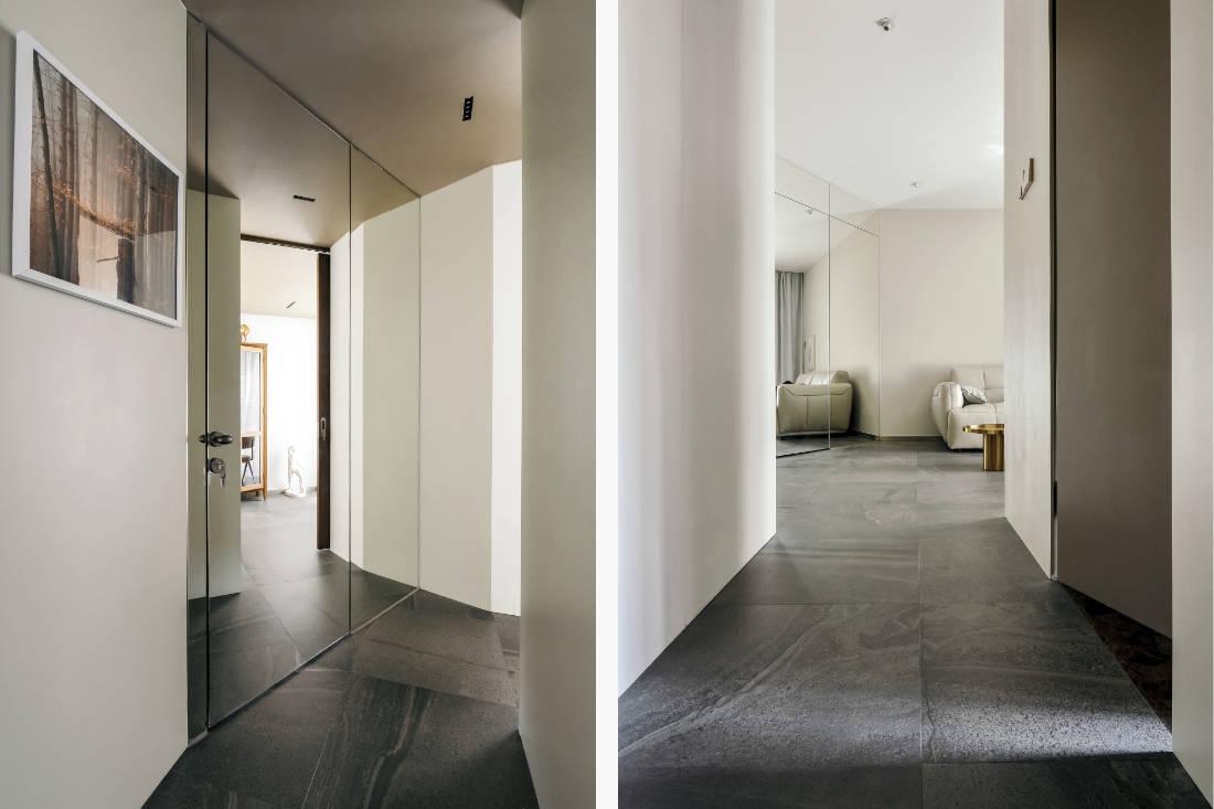 corridor in Shenzhen apartment that added walls - design by GE Design