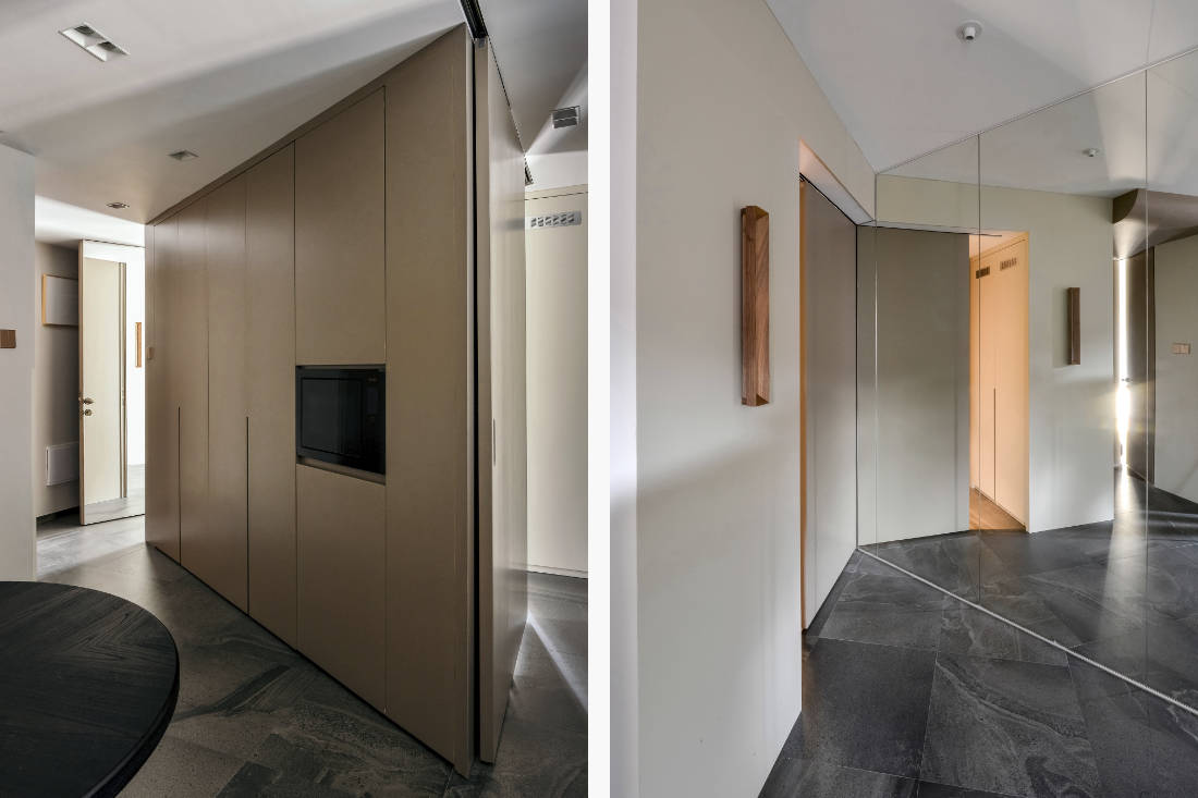mirror-closet system in Shenzhen apartment that added walls - design by GE Design (2)
