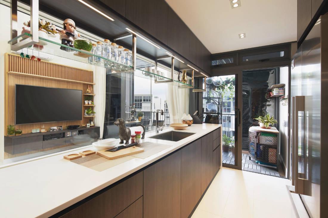 condominium gets glam update by Black N White Haus (4)