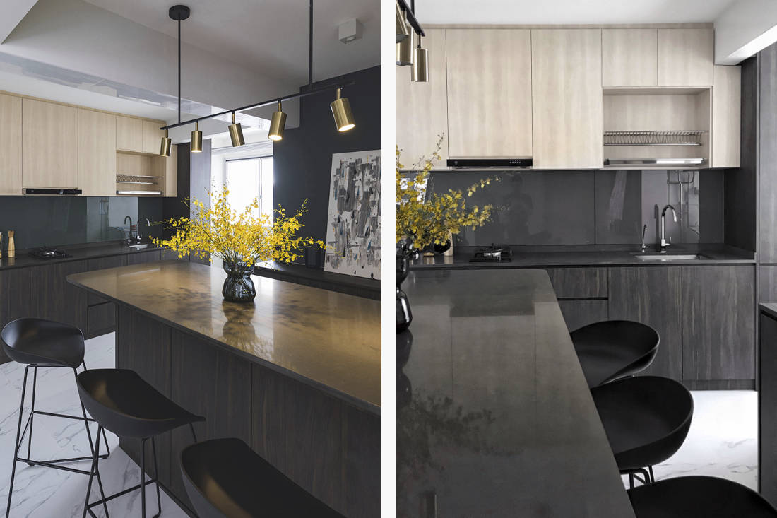 kitchen - hdb flat designed with limited mobility in mind by Happe Design Atelier