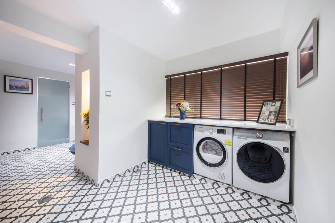 laundry room in jumbo flat by Aart Boxx Interior