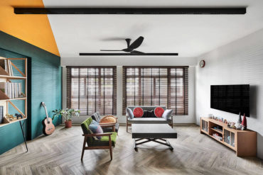 A standout modern-retro flat in uplifting colours