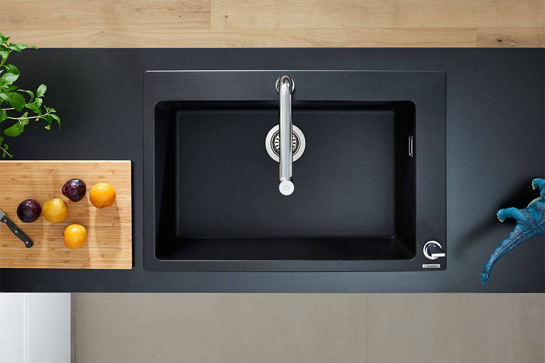 hansgrohe SilicaTec Granite sink for Lookbox Living ID Matching service interior designer