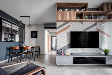 Creative and thoughtful design details make this flat unique