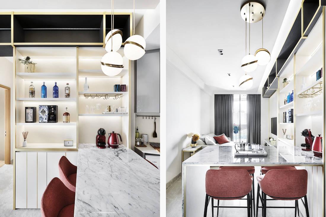 home bar design ideas by Black N White Haus
