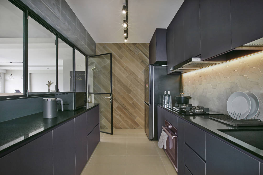 kitchen - BTO flat for couple by Aart Boxx Interior