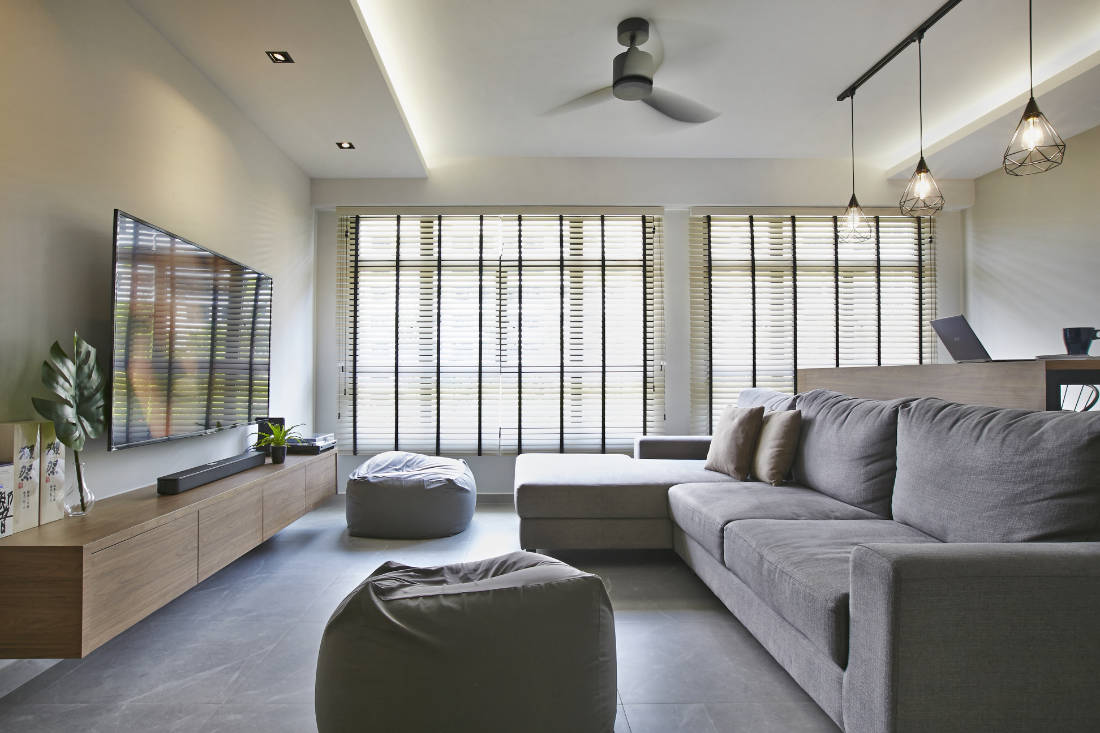 living room - BTO flat for couple by Aart Boxx Interior