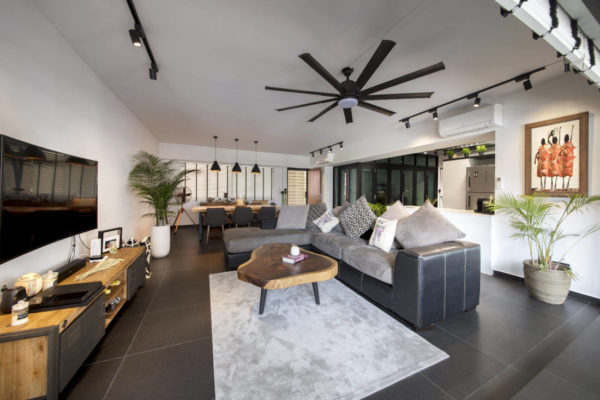 Aart Boxx resale flat living space gets enclosed balcony