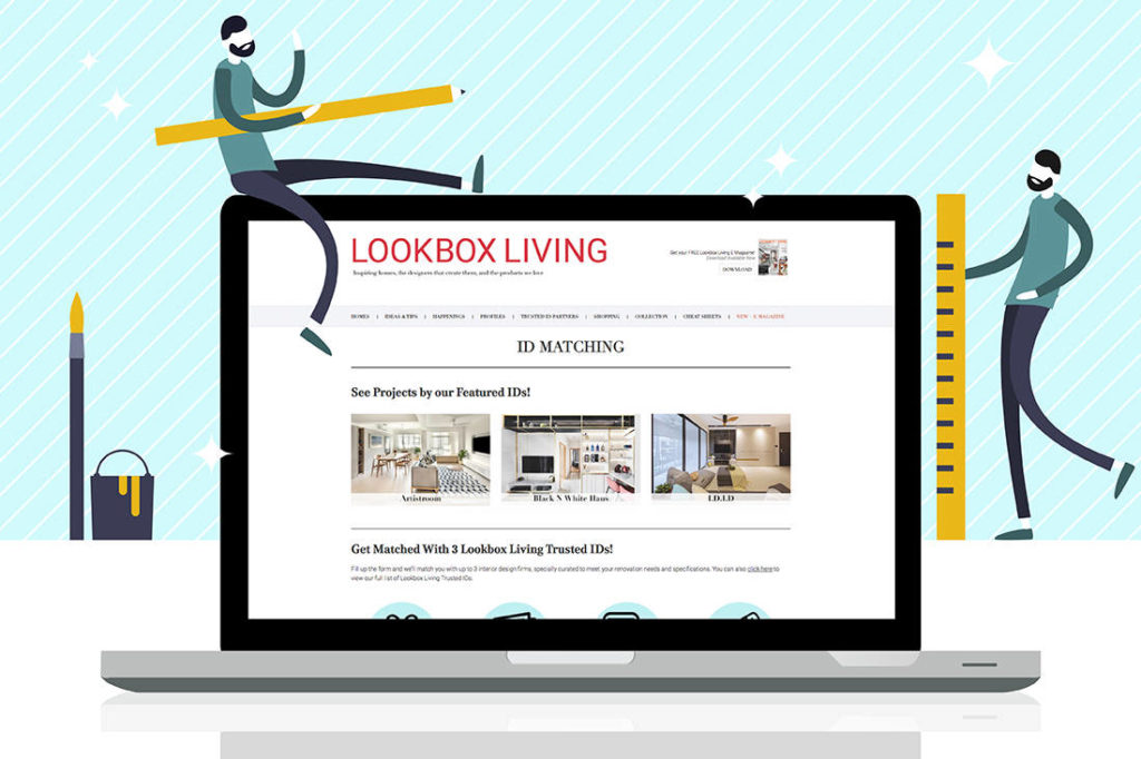 Lookboxliving Free ID Matching Service for Singapore interior design firm