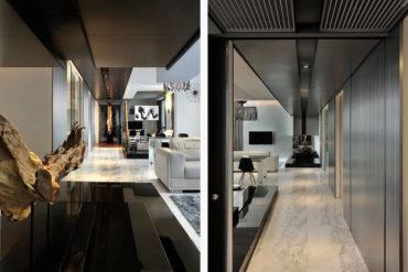 Modern luxury living in a five-bedroom penthouse