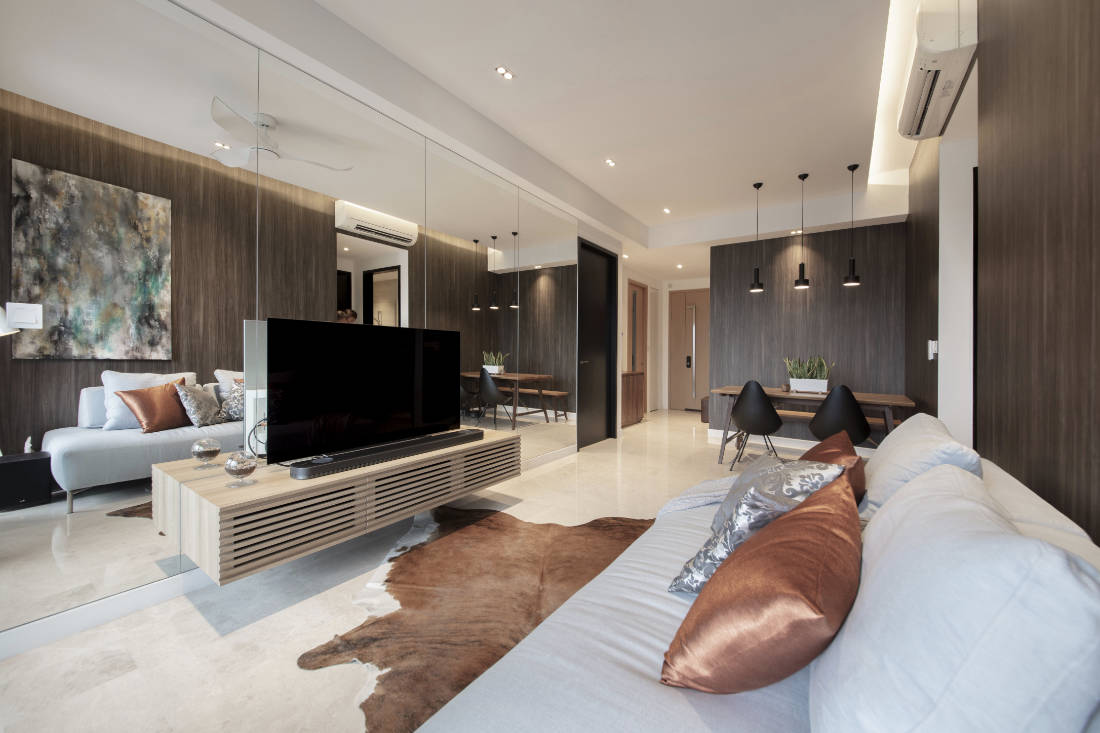 mirrored walls in condo by Aart Boxx Interior (3)