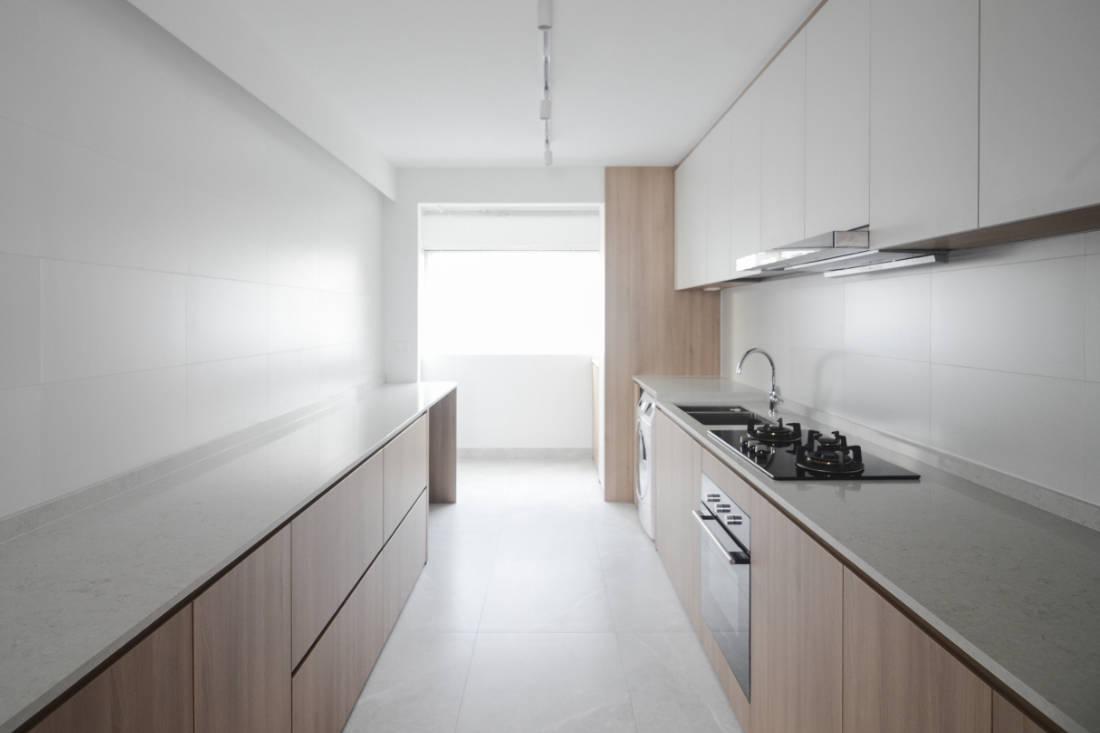 effortless modern-day living in HDB resale flat kitchen by Craftsmen Studio