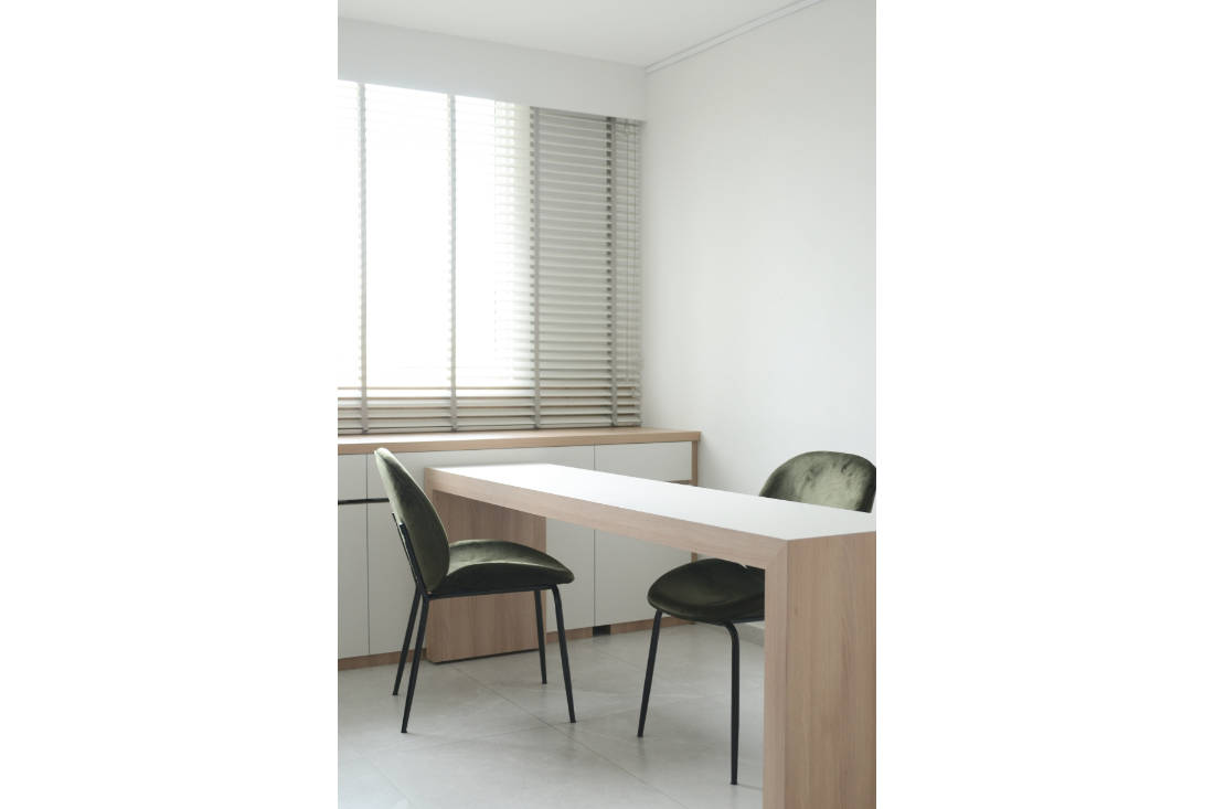 effortless modern-day living in HDB resale flat study by Craftsmen Studio