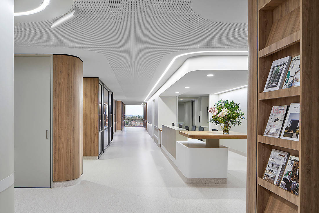 INDE.Awards 2020 The Wellness Space Winner - Gandel Wing, Cabrini Malvern by Bates Smart_image by Peter Clarke
