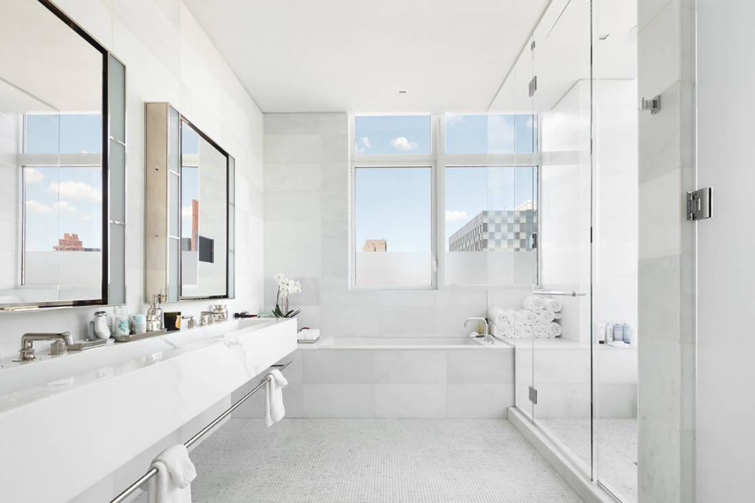 Jennifer Lawrence New York City penthouse bathroom