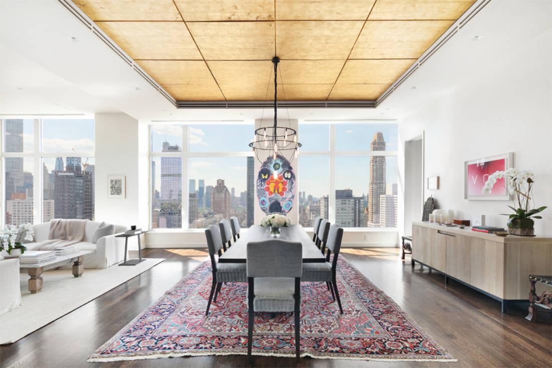 Jennifer Lawrence New York City penthouse formal dining