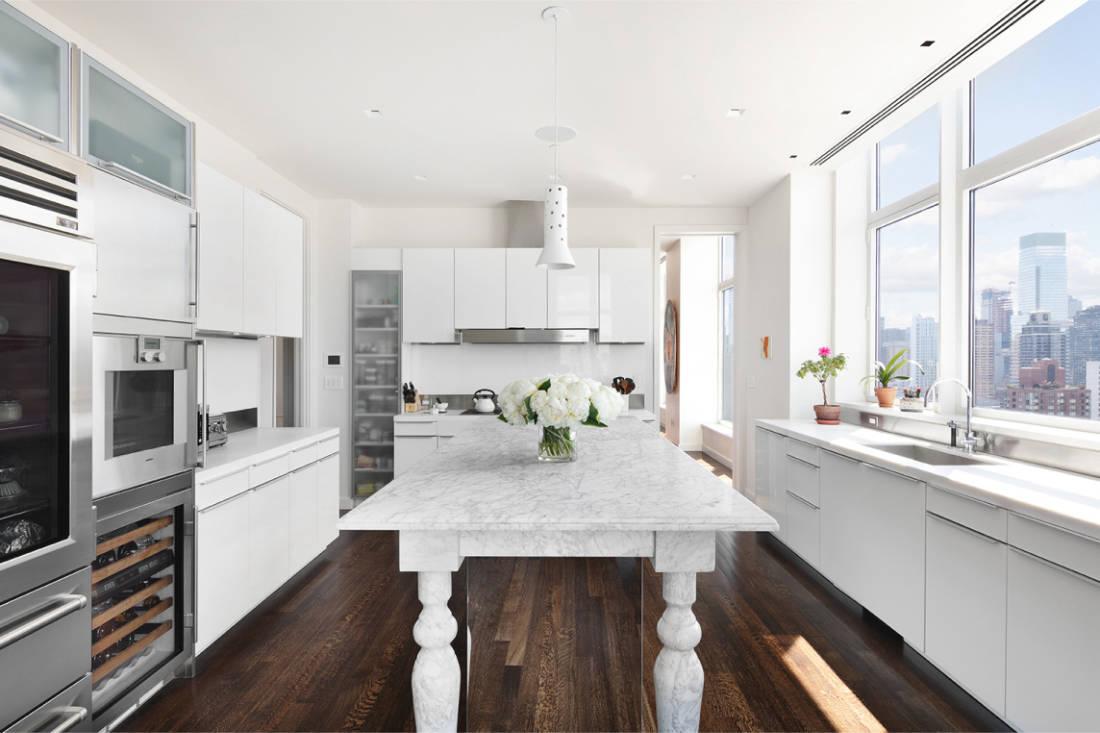 Jennifer Lawrence New York City penthouse kitchen