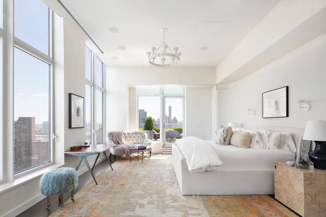 Jennifer Lawrence New York City penthouse master suite