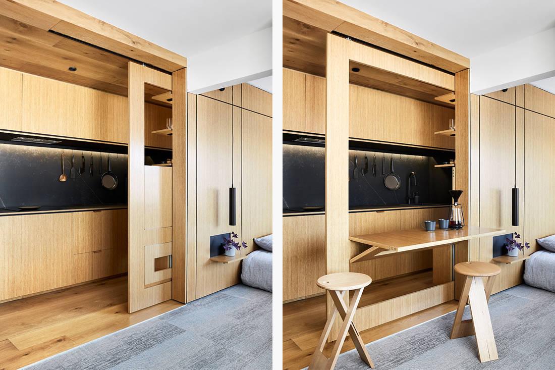 under 600 square feet Tsai design