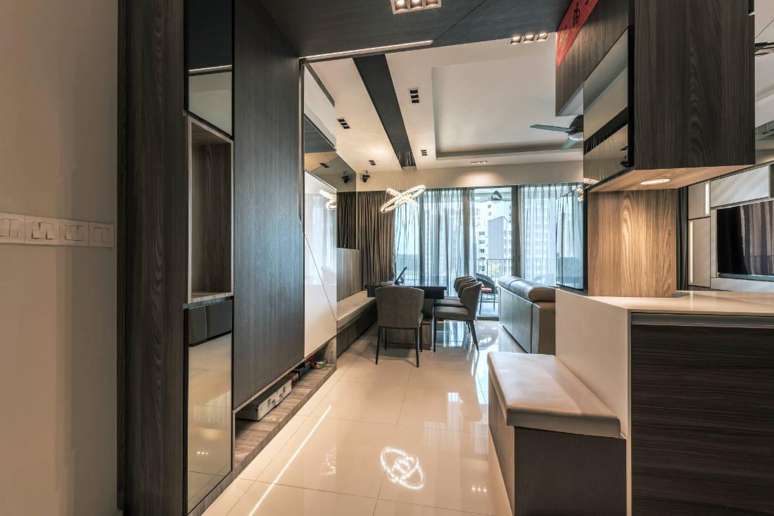 space-saving features in condo entryway by Vivre Creative Design
