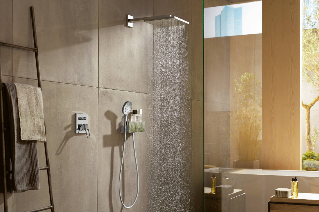 splurge on bathroom fittings for home renovation - hansgrohe RaindanceE shower