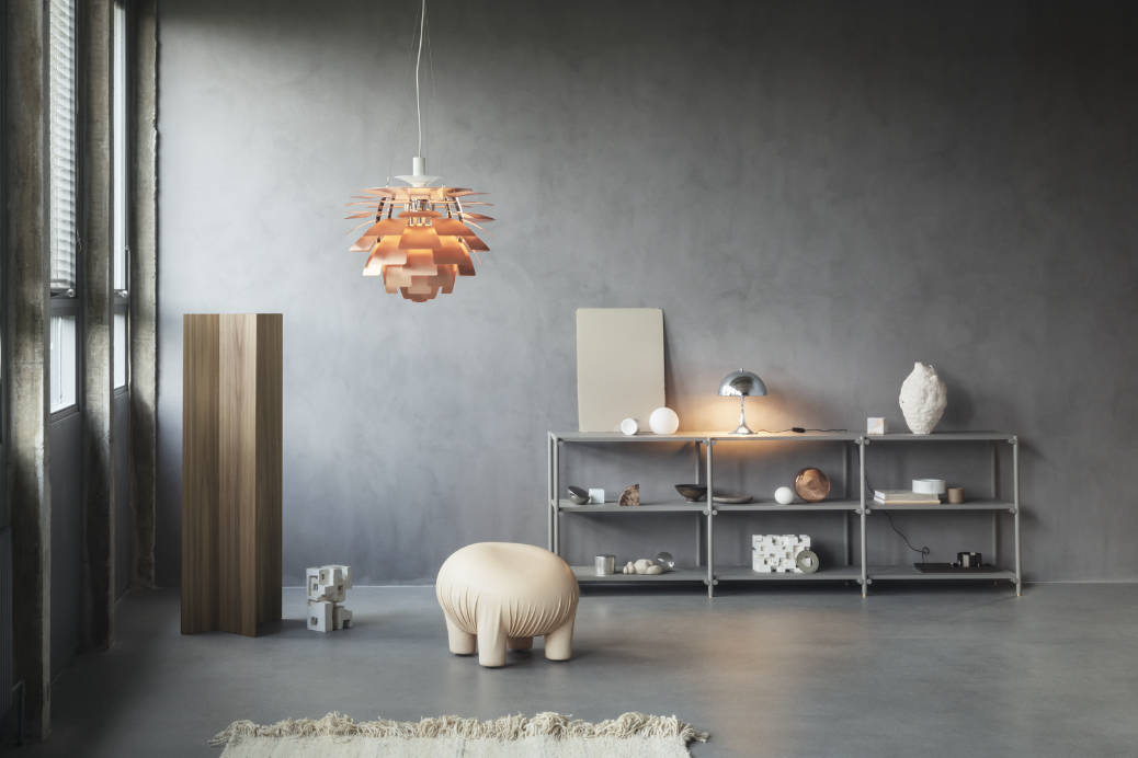 splurge on lighting for home renovation - Louis Poulsen PH Artichoke pendant in copper rose
