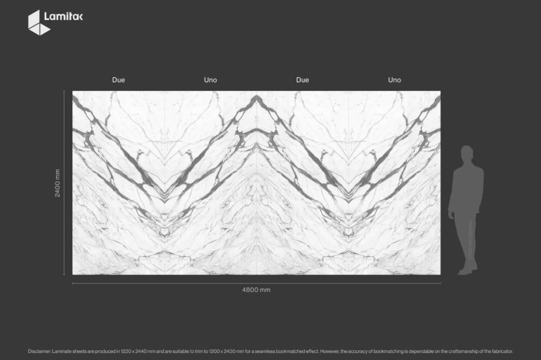 Lamitak Lunigiana bookmatched marble laminate (2)