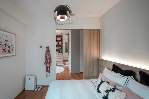 bachelorette pad master bedroom by SPIRE