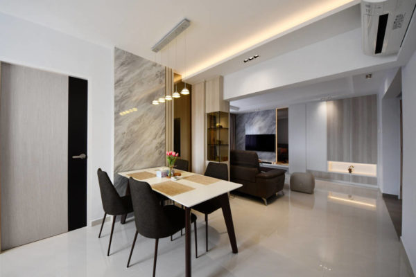 contemporary style resale flat dining room by Vivre Creative Design