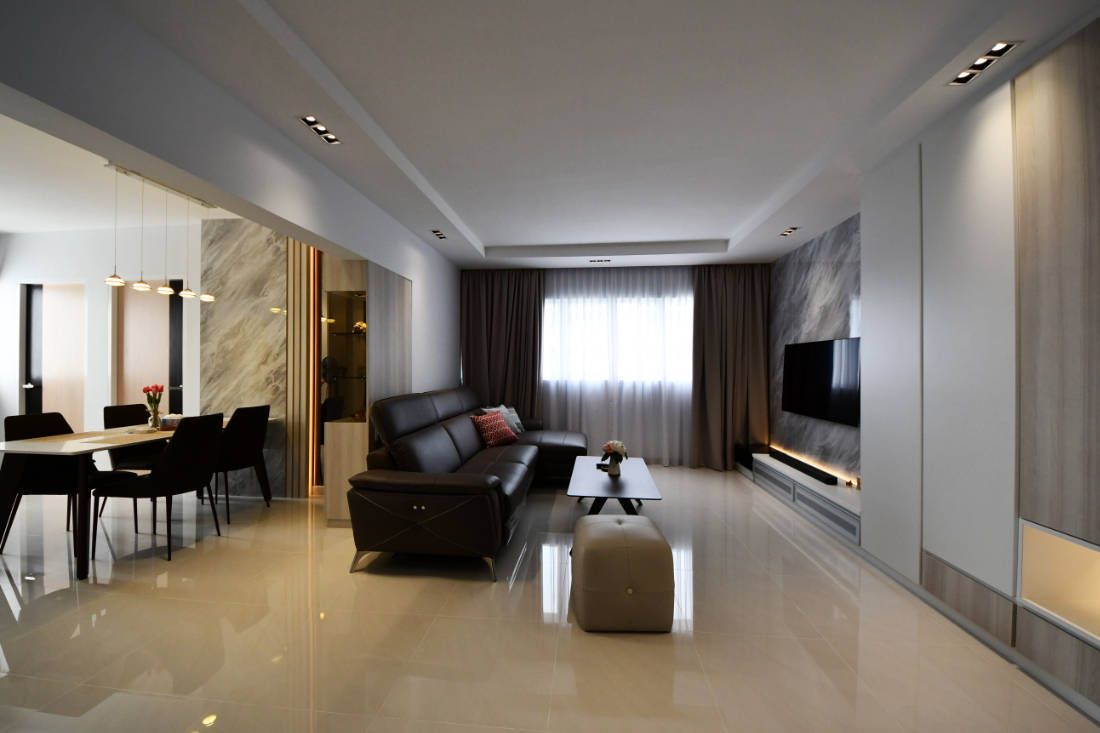 contemporary style resale flat living room by Vivre Creative Design