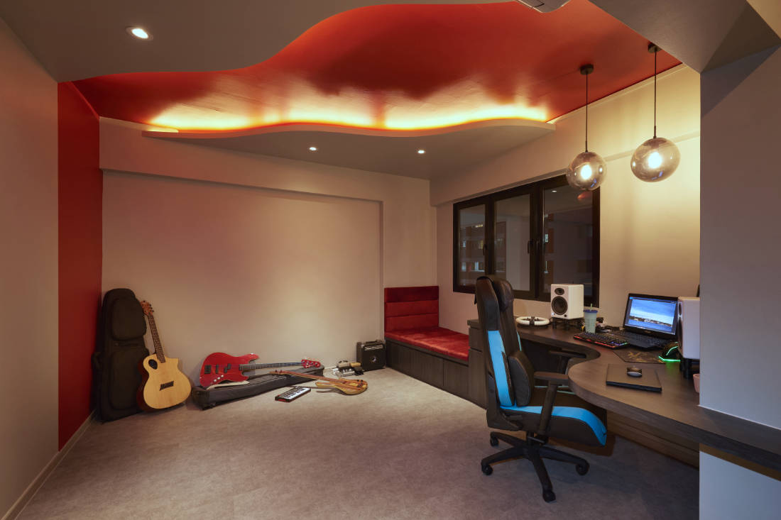 446 hougang ave 8 HDB maisonette entertainment room designed by SPIRE