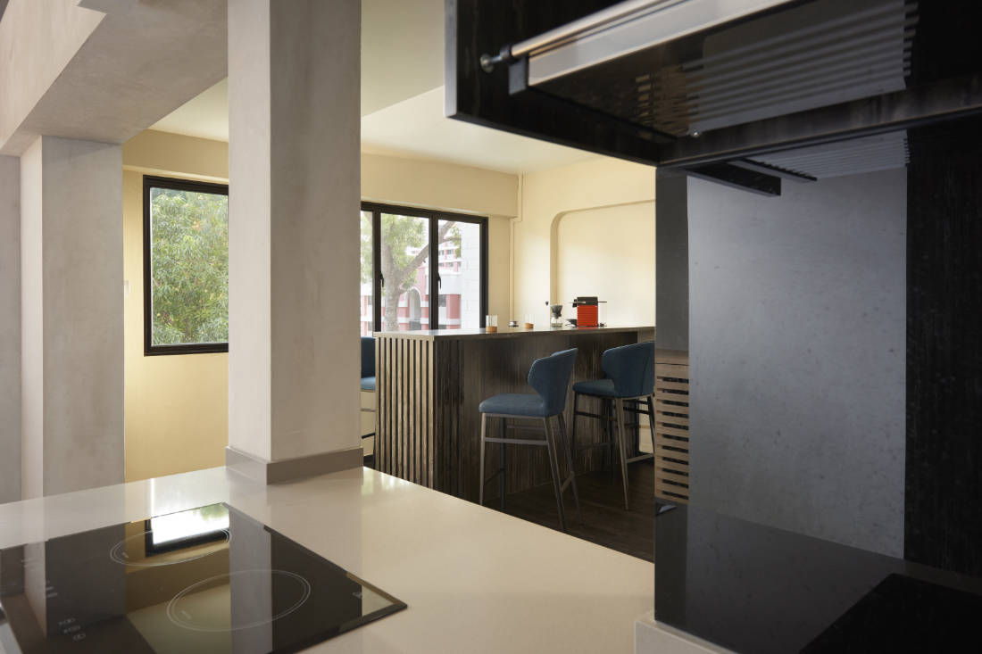 446 hougang ave 8 HDB maisonette living and dining designed by SPIRE