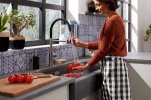 farmhouse-style sink Vintera XL 9 BLANCO