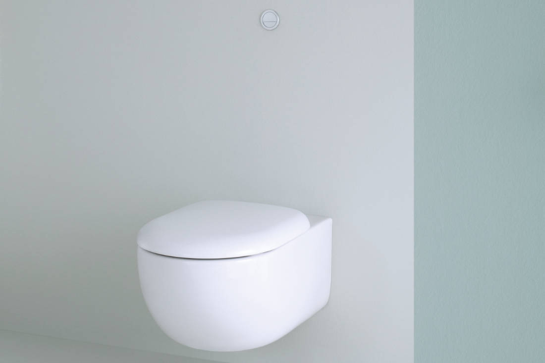 maximise space with TOTO tankless toilet