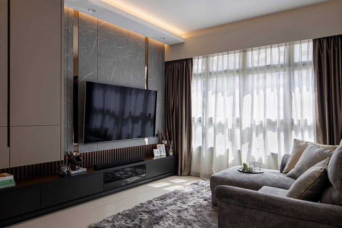hotel living HDB flat Plush Interior Design