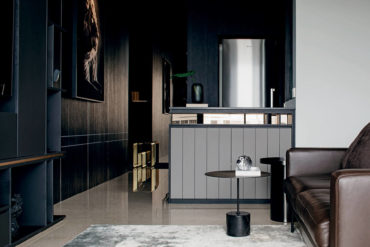 Shades of black bring mood and sophistication to an apartment