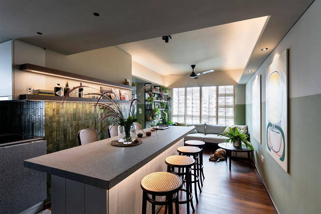 kitchen 3-room flat Goy Architects