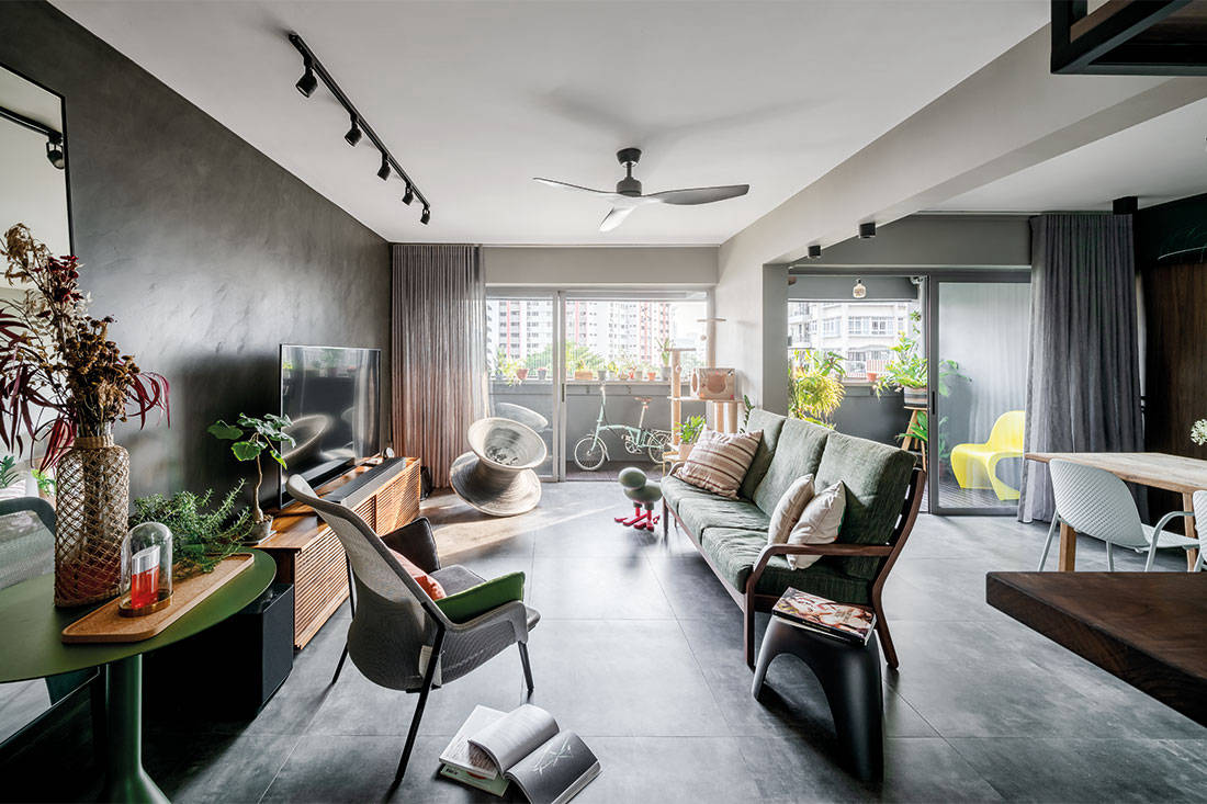 five-room flat scandi industrial Ethereall
