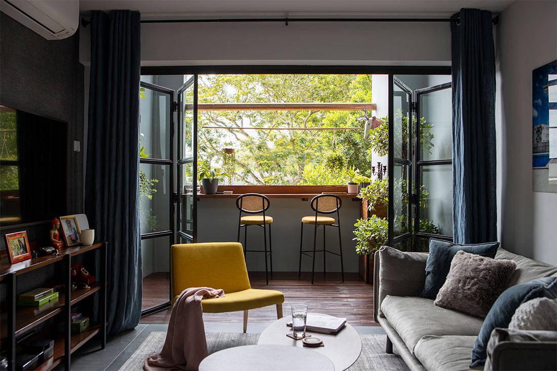 Colourful HDB maisonette Sync Interior