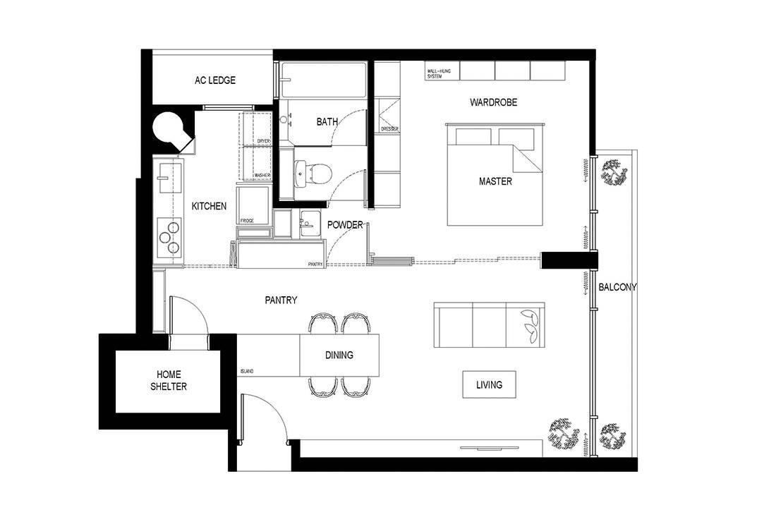 After floor plan apartment Craftsmen Studio