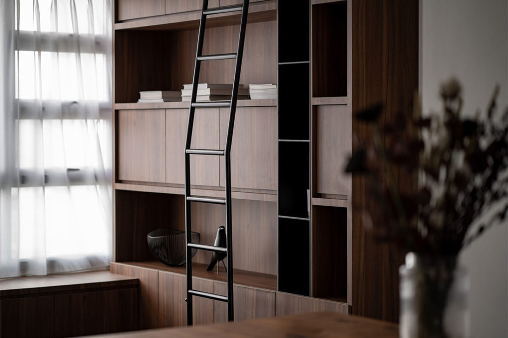 bookcase in weekend home