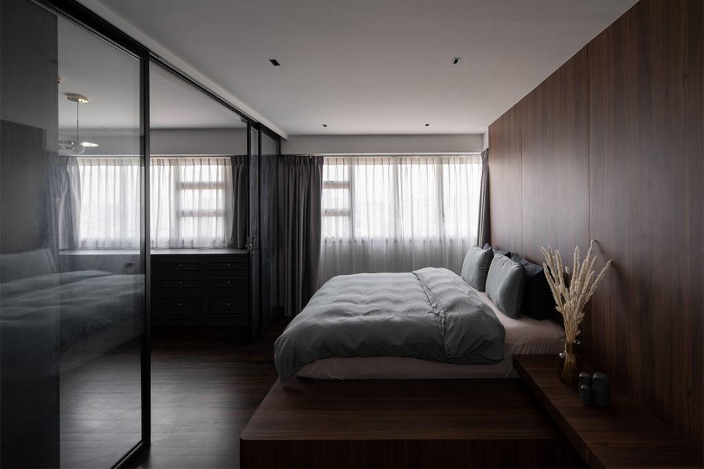 master bedroom in weekend home