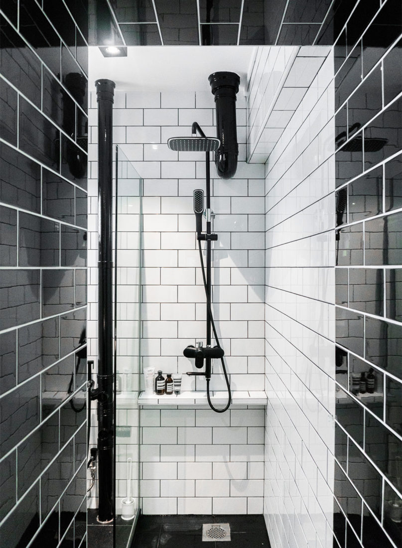 resale flat black white Happe Design Atelier